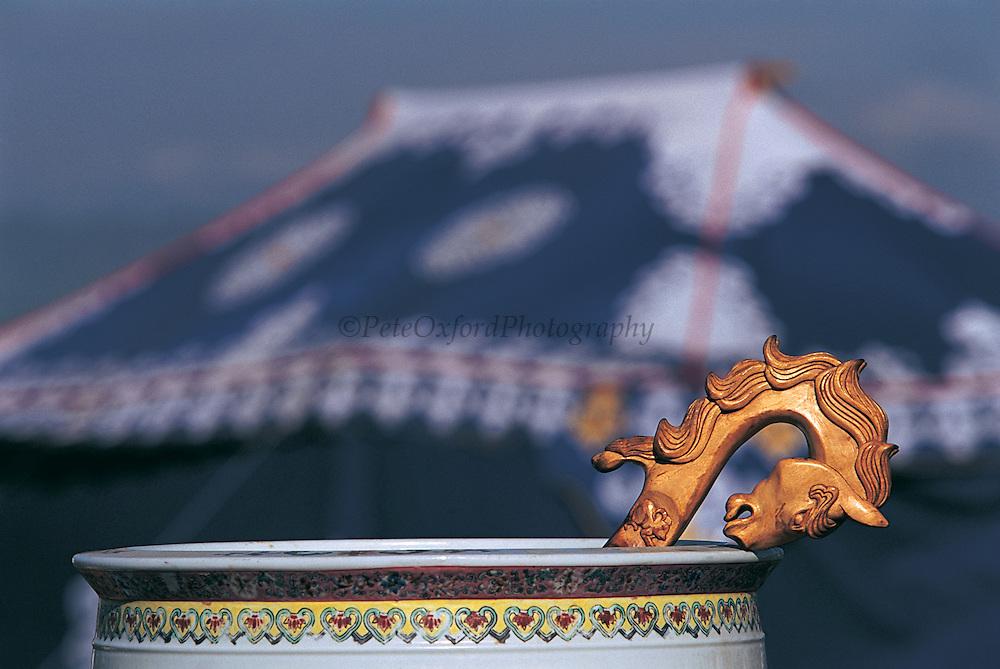 Airag Bowl &amp; horse head ladle<br /> Naadam festival<br /> Ulaanbaatar race track<br /> Mongolia