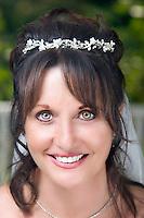 Bride inside gazebo