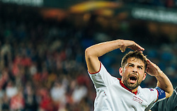 18.05.2016, St. Jakob Park, Basel, SUI, UEFA EL, FC Liverpool vs Sevilla FC, Finale, im Bild Jubel von Coke (FC Sevilla) // Coke (FC Sevilla) celebrates during the Final Match of the UEFA Europaleague between FC Liverpool and Sevilla FC at the St. Jakob Park in Basel, Switzerland on 2016/05/18. EXPA Pictures © 2016, PhotoCredit: EXPA/ JFK