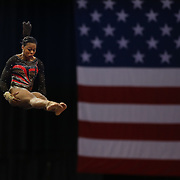 Kennedy Baker, Flower Mound, Texas. in action during the Senior Women Competition at The 2013 P&G Gymnastics Championships, USA Gymnastics' National Championships at the XL, Centre, Hartford, Connecticut, USA. 17th August 2013. Photo Tim Clayton