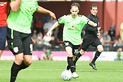 Chris Rowney of Curzon Ashton (10) in action during the Vanarama National League North match between York City and Curzon Ashton at Bootham Crescent, York, England on 18 August 2018.