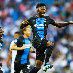 (L-R) Percy Tau of Club Brugge KV, Emmanuel Dennis of Club Brugge KV during the UEFA Champions League group A match between Real Madrid and Club Brugge at the Santiago Bernabeu stadium on October 01, 2019 in Madrid, Spain .Photo by Icon Sport - Stade Santiago-Bernabeu - Madrid (Espagne)