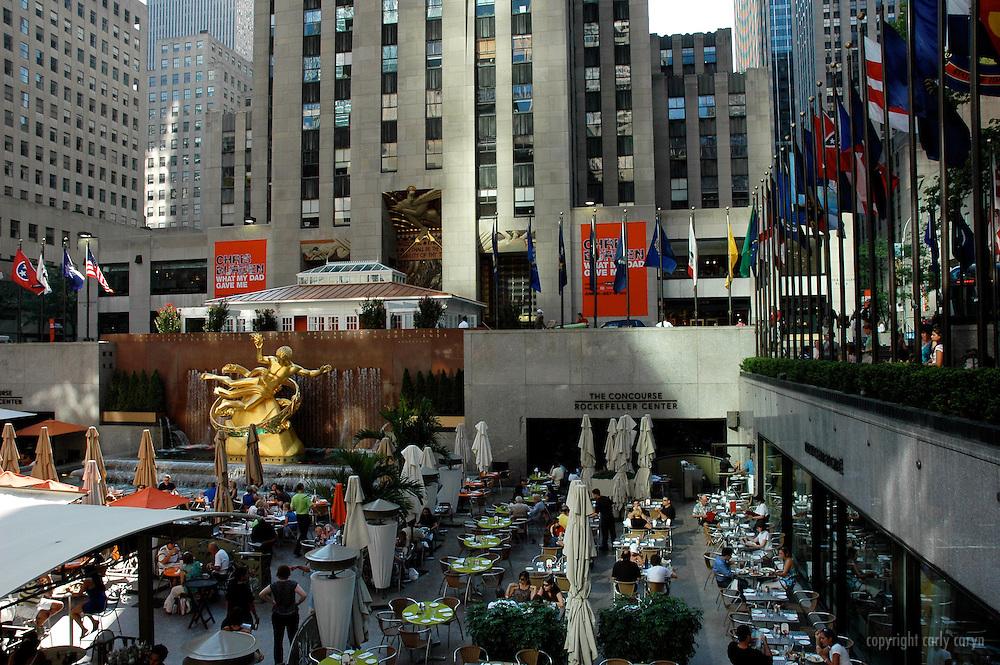 Rockefeller Center, summer