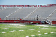 Under Armour banners line the bleachers in the football stadium at Cedar Hill High School in Cedar Hill, Texas on August 24, 2016. &quot;CREDIT: Cooper Neill for The Wall Street Journal&quot;<br /> TX HS Football sponsorships