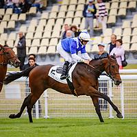 Uchronique (A.Badel) wins Prix de Croissanville, Daeuville, France 01/07/2017, photo: Zuzanna Lupa / Racingfotos.com