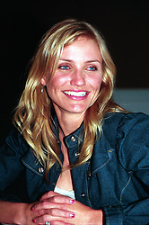"Cameron Diaz posing for cameras at a press conference in Los Angeles to promote her movie ""The Sweetest Thing"". Head Shot, Posed."