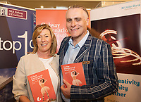 REPRO FREE:  Caroline Gannon Isupply with Paul Fahy, Artistic Director GIAF  and Sam Yates Incantata in Hotel Meyrick for the announcement of the programme for the 2018 Galway International Arts Festival Programme 16-29 July which features an exciting Irish and international programme of theatre, opera, dance, circus, music, spectacle, visual art, and First Thought Talks featuring interviews and discussions on the theme of home, six world premieres, five Irish premieres and artists and theatre makers from across the world. Highlights include world premieres of Paul Muldoon's Incantata, new plays by Sonya Kelly and Cristin Kehoe (Druid) and a new theatre installation from Enda Walsh, visual arts / installations commissions from David Mach Rock 'n' Roll and Olivier Grossetête The People Build. Photo:Andrew Downes, xposure.