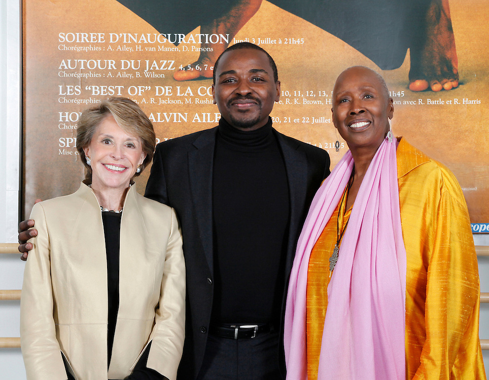 Joan Weill, Robert Battle, Judith Jamison.Alvin Ailey American dance Theater.Credit photo: ©Paul Kolnik.paul@paulkolnik.com.nyc  212-362-7778