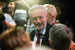© Licensed to London News Pictures . 30/09/2015 . Brighton , UK . JEREMY CORBYN leaves the hall at the end of the conference . The 2015 Labour Party Conference . Photo credit : Joel Goodman/LNP