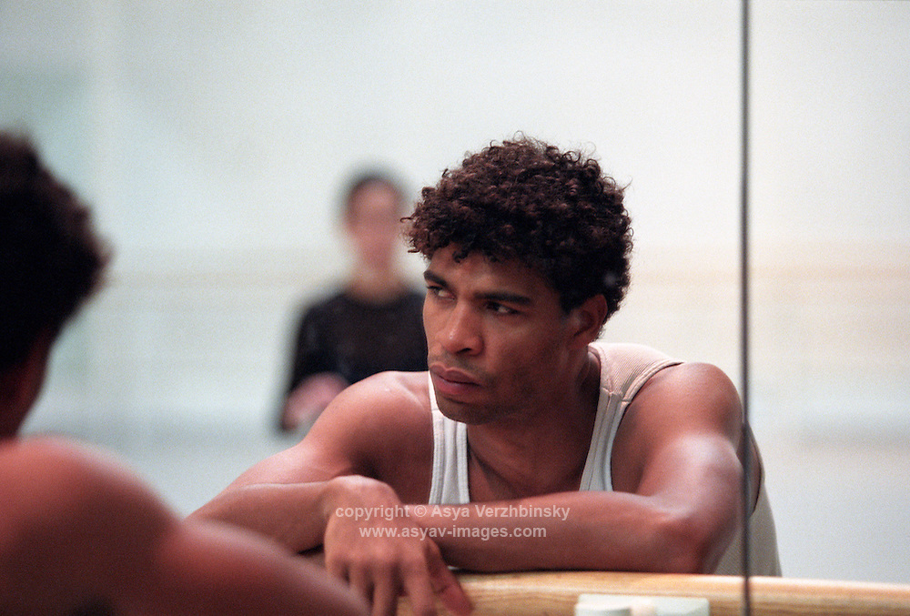 Carlos Acosta during rehearsal with the Royal Ballet