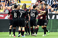 esultanza gol Mario Pasalic goal celebration<br /> Milano 09-04-2017, Stadio Giuseppe Meazza, Football Calcio 2016/2017 Serie A, Milan - Palermo, Foto Image Sport/Insidefoto
