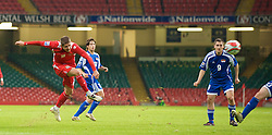 CARDIFF, WALES - Saturday, October 11, 2008: Wales' Carl Robinson in action against Liechtenstein during the 2010 FIFA World Cup South Africa Qualifying Group 4 match at the Millennium Stadium. (Photo by David Rawcliffe/Propaganda)