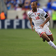 Densill Theobald, Trinidad and Tobago in action during the El Salvador Vs Trinidad and Tobago CONCACAF Gold Cup group B football match at Red Bull Arena, Harrison, New Jersey. USA. 8th July 2013. Photo Tim Clayton