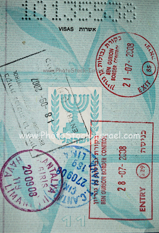 Stamped Israeli Passport