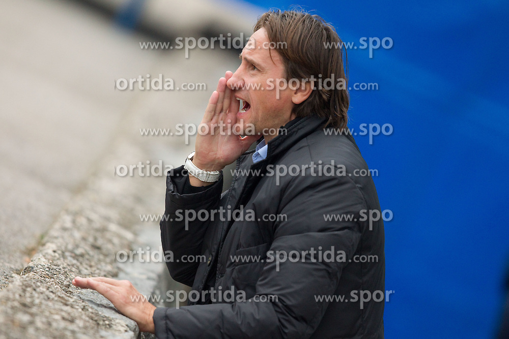 Coach of Koper Primoz Gliha during the football match between NK Triglav Gorenjska and NK Luka Koper, played in the 11th Round of Prva liga football league 2010 - 2011, on October 3, 2010, Mestni stadion, Kranj, Slovenia. (Photo by Vid Ponikvar / Sportida)