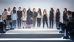 © Licensed to London News Pictures. 02/06/2015. London, UK. Fashion designers from Universidad CENTRO Mexico at Graduate Fashion Week 2015. Graduate Fashion Week takes place from 30 May to 2 June 2015 at the Old Truman Brewery, Brick Lane. Photo credit : Bettina Strenske/LNP