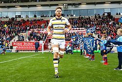 Darren Barry of Worcester Warriors runs out to face Sale Sharks at The AJ Bell Stadium - Mandatory by-line: Robbie Stephenson/JMP - 09/09/2018 - RUGBY - AJ Bell Stadium - Manchester, England - Sale Sharks v Worcester Warriors - Gallagher Premiership