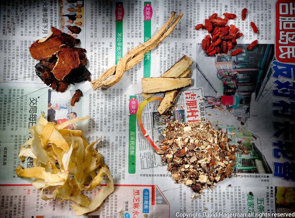 ingredients for the Chinese Malaysian dish 'bah ku teh'