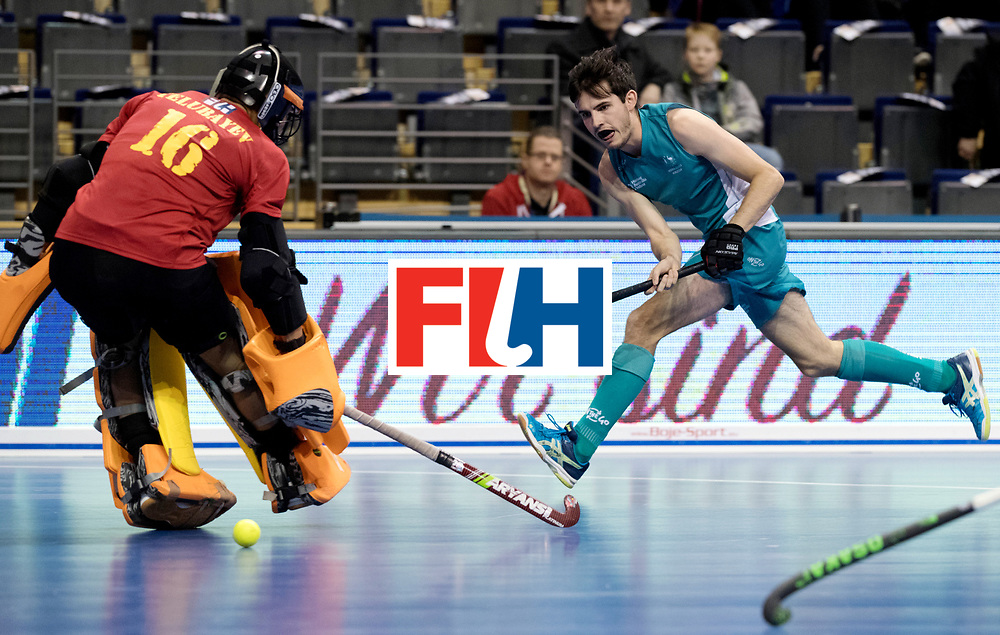 BERLIN - Indoor Hockey World Cup<br /> Men: Australia - Kazakhstan<br /> foto: James Knee.<br /> WORLDSPORTPICS COPYRIGHT FRANK UIJLENBROEK