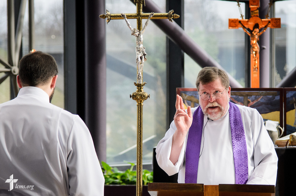 A Service of Sending for new missionaries in the International Center chapel of The Lutheran Church–Missouri Synod on Friday, March 11, 2016, in Kirkwood, Mo. LCMS Communications/Frank Kohn