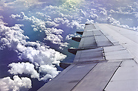 Cumulus clouds as seen from a plane.