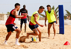 Joe Bryan and Zak Vyner of Bristol City play beach football - Mandatory by-line: Matt McNulty/JMP - 18/07/2017 - FOOTBALL - Tenerife Top Training Centre - Costa Adeje, Tenerife - Pre-Season Training
