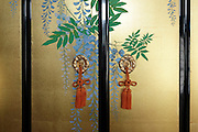 modern traditional style screen painting on doors Japan