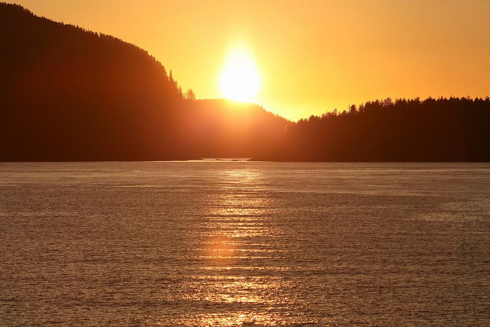 Sunset over ocean in Southeast Alaska, Taken 10.13