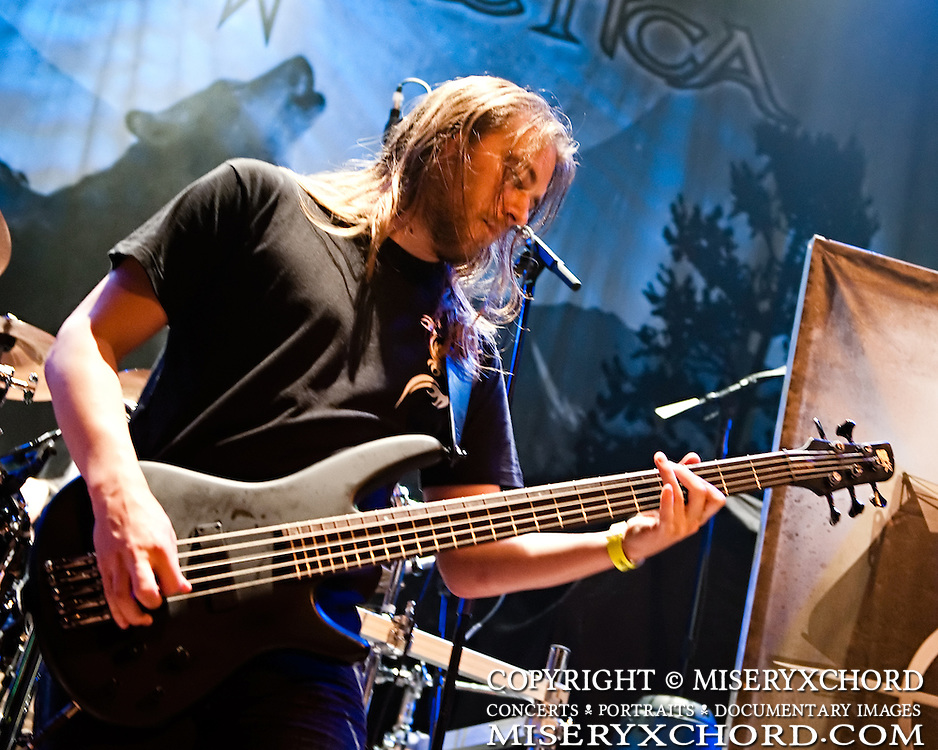 "Finland's power metal band Sonata Arctica performs at the House of Blues on Sunset Strip in Los Angeles, California USA on September 18 2009. The band is touring in support of their album ""The Days Of Grays."""