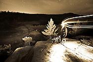 Night mountain bike riding near Marquette Michigan.