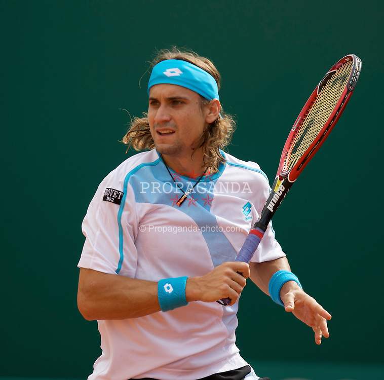 MONTE-CARLO, MONACO - Thursday, April 24, 2008: David Ferrer (ESP) during the third round of the Masters Series Monte-Carlo at the Monte-Carlo Country Club. (Photo by David Rawcliffe/Propaganda)