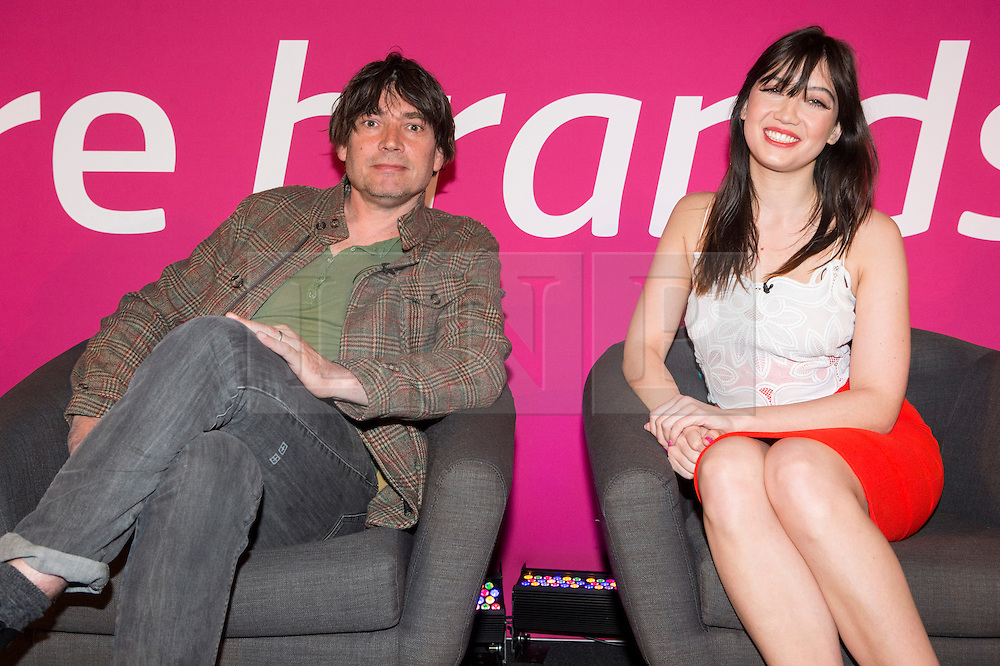 © Licensed to London News Pictures. 20/04/2016. ALEX JAMES and DAISY LOWE give a talk at Advertising Week Europe. London, UK. Photo credit: Ray Tang/LNP