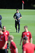 Wales manager Chris Coleman looks on. Wales football players training at the Vale, in Cardiff on Wed 5th Sept 2012, ahead of their forthcoming World cup qualifier against Belgium on Friday 8th Sept.  pic by  Andrew Orchard, Andrew Orchard sports photography,