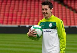 Robert Koren during practice session of Slovenia National football team One day before EURO 2012 Quaifications game between National teams of Slovenia and Northern Ireland, on March 28, 2011, in Windsor Park Stadium, Belfast, Northern Ireland, United Kingdom. (Photo by Vid Ponikvar / Sportida)