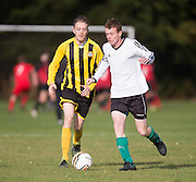 - Wellbeat (yellow and black) v Ferry Mechanics (white) in the Dundee Saturday Morning Football League at Riverside, Dundee. Photo: David Young<br /> <br />  - © David Young - www.davidyoungphoto.co.uk - email: davidyoungphoto@gmail.com