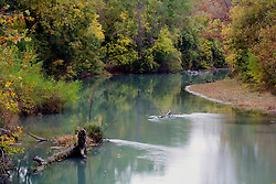 Stock photo of a slowly flowing river in the Texas Hill Country