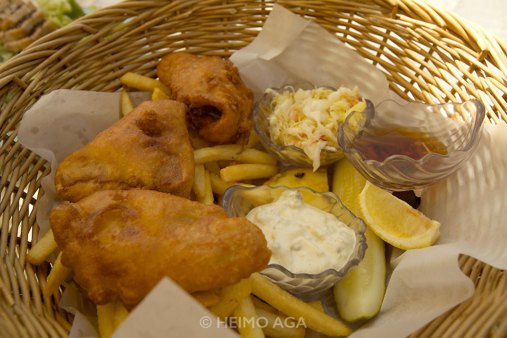 Hapuna Beach Prince Hotel. Ahi fish and chips.