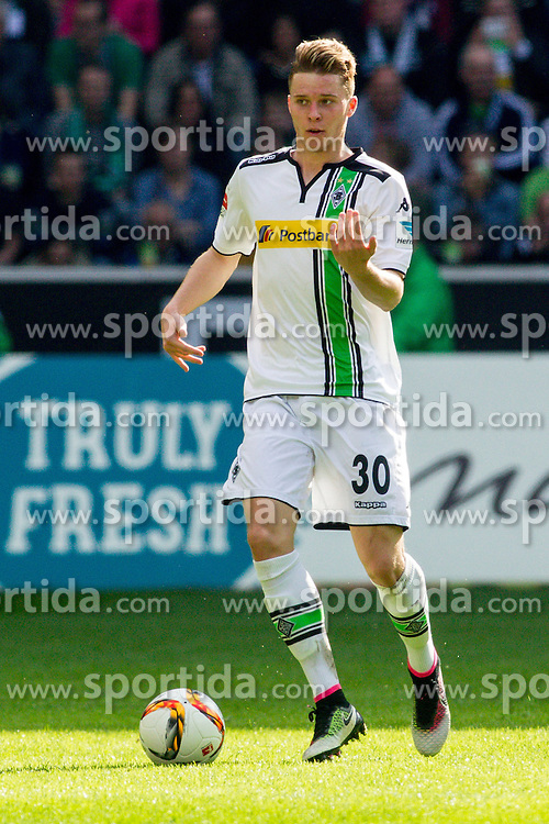 03.04.2016, Stadion im Borussia Park, Moenchengladbach, GER, 1. FBL, Borussia Moenchengladbach vs Hertha BSC, 28. Runde, im Bild Nico Elvedi (Borussia Moenchengladbach #30) // during the German Bundesliga 28th round match between Borussia Moenchengladbach and Hertha BSC at the Stadion im Borussia Park in Moenchengladbach, Germany on 2016/04/03. EXPA Pictures &copy; 2016, PhotoCredit: EXPA/ Eibner-Pressefoto/ Schueler<br /> <br /> *****ATTENTION - OUT of GER*****