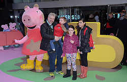 Donal MacIntyre, Hunter, Tiger Lily and Allegra  attend The Premiere of Peppa Pig: The Golden Boots at The Odeon, Leicester Square, London on Sunday 1 February 2015