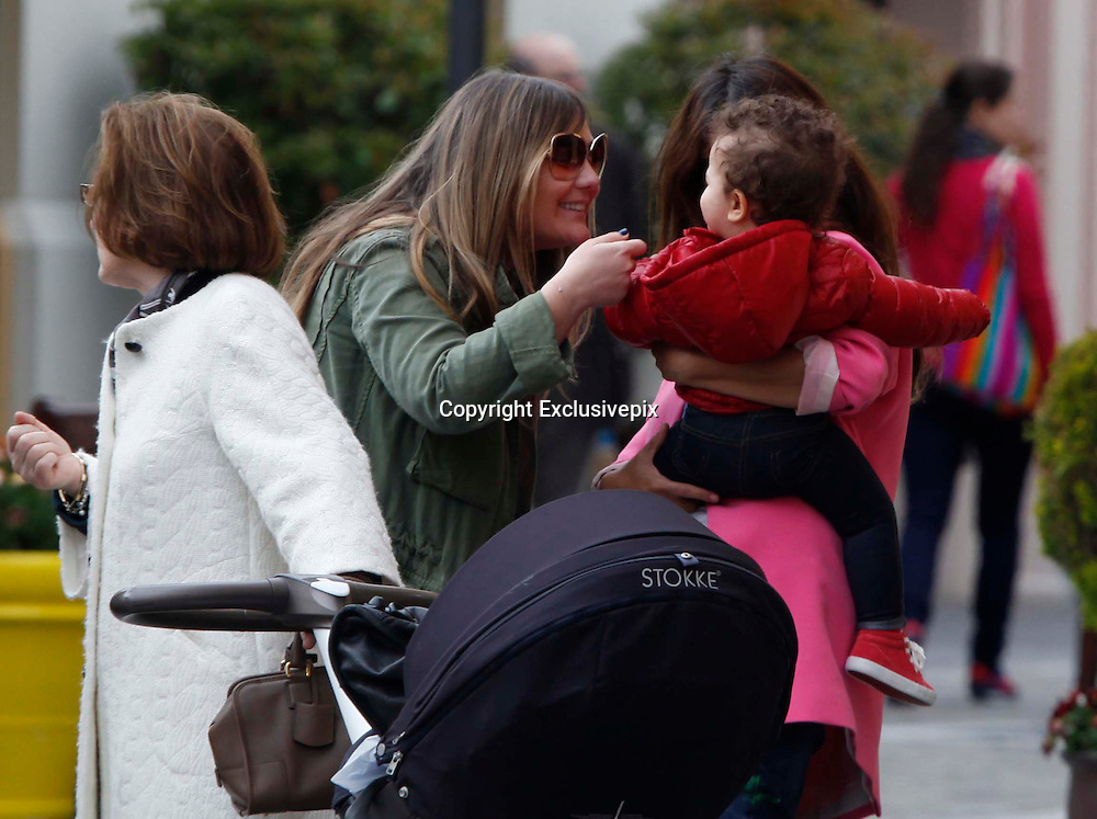 Madrid, April 2014<br /> MONICA CRUZ SHOPPING WITH HER DAUGHTER.<br /> The younger sister of Penelope Cruz was shot while shopping with her mother Encarna S&aacute;nchez, and her daughter Antonella who is about to turn her first year old.<br /> They met the singer Amaia Montero, who was with her sister Idoia Montero and their mother too.<br /> Monica Cruz has rarely been photographed with her daughter so far, and gave birth Antonella on 14th May 2013, and it is still not known the identity of the father. <br /> They were spotted while shopping in the center of Madrid.<br /> &copy;Exclusivepix