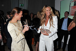 Left to right, YASMIN LE BON and ELLE MACPHERSON at the 2012 Rodial Beautiful Awards held at The Sanderson Hotel, Berners Street, London on 6th March 2012.