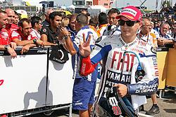 17.07.2010, Sachsenring, GER, MotoGP, Deutschland Grand Prix 2010, im Bild Jorge Lorenzo - Fiat Yamaha team. EXPA Pictures © 2010, PhotoCredit: EXPA/ InsideFoto/ Semedia +++ ATTENTION - FOR AUSTRIA AND SLOVENIA CLIENT ONLY +++ / SPORTIDA PHOTO AGENCY