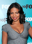 Actress Sanaa Lathan poses at the Fox 2009 Programming Presentation Post-Party Arrivals at Wollman Rink in New York City, USA on May 18, 2009.