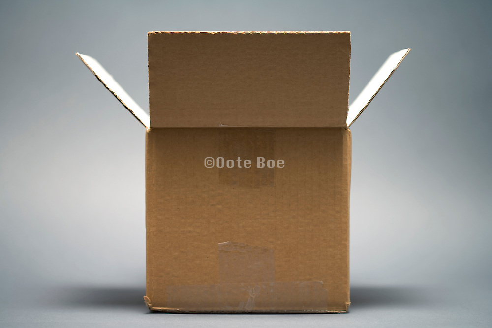 an open brown carton box