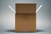 an open brown carton box