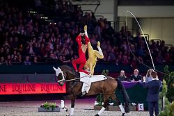 BRESCH Theresa (GER), JACOBS Torben (GER), Danny Boy Old<br /> Leipzig - Partner Pferd 2019<br /> FEI Vaulting World Cup<br /> 2. Umlauf<br /> Pas de Deux<br /> 19. Januar 2019<br /> © www.sportfotos-lafrentz.de/Stefan Lafrentz