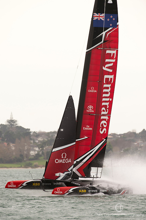 Emirates Team New Zealand testing AC45 Turbo.