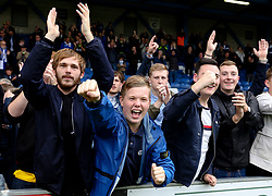Bristol Rovers fans celebrate - Mandatory by-line: Matt McNulty/JMP - 19/08/2017 - FOOTBALL - Gigg Lane - Bury, England - Bury v Bristol Rovers - Sky Bet League One