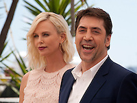 Charlize Theron and Javier Bardem at the The Last Face film photo call at the 69th Cannes Film Festival Friday 20th May 2016, Cannes, France. Photography: Doreen Kennedy