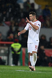 November 20, 2018 - Guimaraes, Guimaraes, Portugal - Grzegorz Krychowiak midfielder of Poland reacts during the UEFA Nations League football match between Portugal and Poland at the Dao Afonso Henriques stadium in Guimaraes on November 20, 2018. (Credit Image: © Dpi/NurPhoto via ZUMA Press)